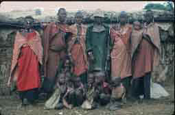 Masai Chief and his wifes